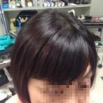縮毛矯正と香草カラー
