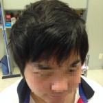 メンズ縮毛矯正2ヵ月後のカット