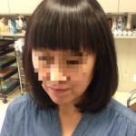 アイロン技術で自然な前髪に