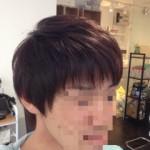 縮毛矯正一ヵ月後のカラー