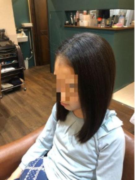 小4のときの髪の毛